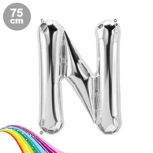 N - Harfi Folyo Balon Gümüş (75 cm), fiyatı