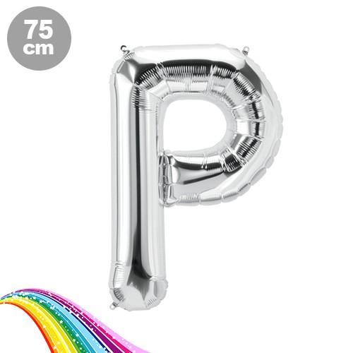 P - Harfi Folyo Balon Gümüş (75 cm), fiyatı