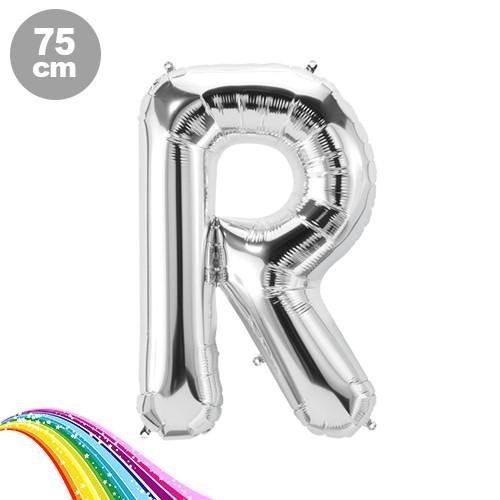R - Harfi Folyo Balon Gümüş (75 cm), fiyatı