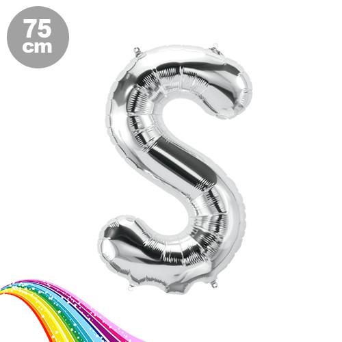 S - Harfi Folyo Balon Gümüş (75 cm)