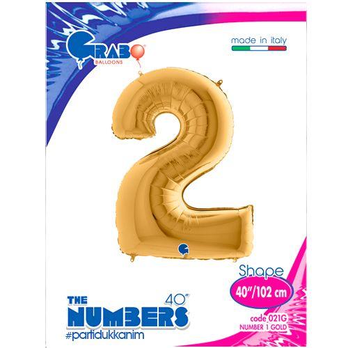 2 Rakam Folyo Balon Gold (100x70 cm), fiyatı