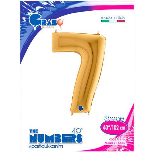 7 Rakam Folyo Balon Gold (100x70 cm), fiyatı