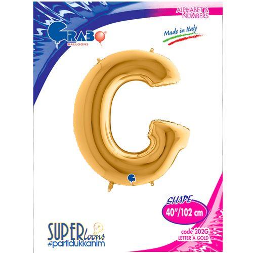 G - Harf Folyo Balon Gold (100 cm), fiyatı