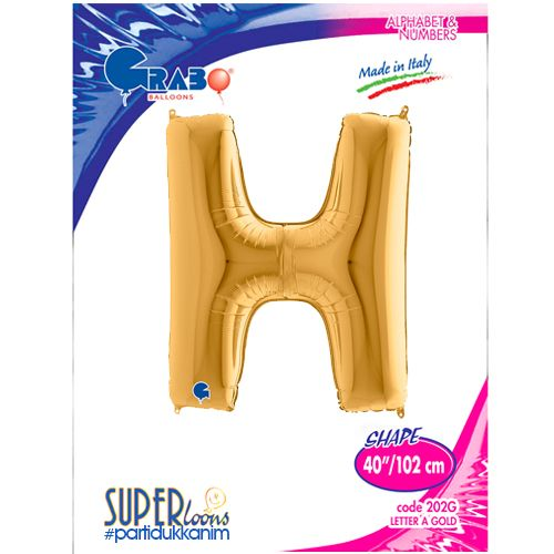 H - Harf Folyo Balon Gold (100 cm), fiyatı