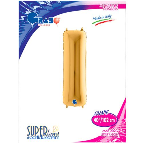 I - Harf Folyo Balon Gold (100 cm), fiyatı