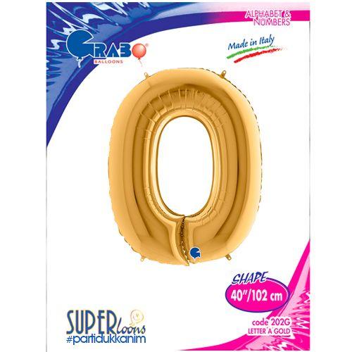 O - Harf Folyo Balon Gold (100 cm), fiyatı