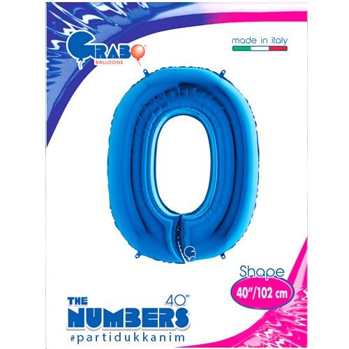 0 Rakam Folyo Balon Mavi (100x70 cm), fiyatı