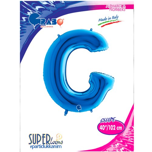 G - Harf Folyo Balon Mavi (100 cm), fiyatı