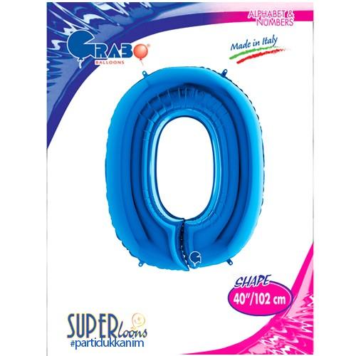 O - Harf Folyo Balon Mavi (100 cm), fiyatı
