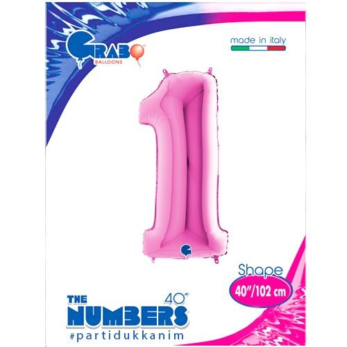 1 Yaş Pembe Folyo Balon (100x35 cm), fiyatı
