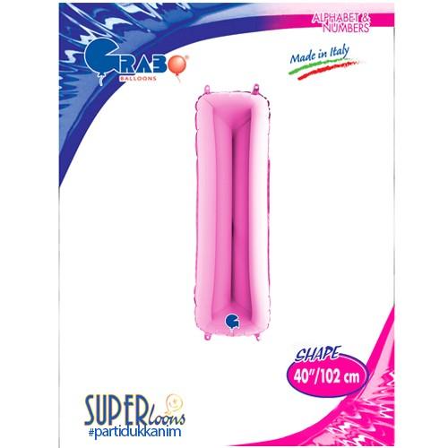 I - Harf Folyo Balon Pembe (100 cm), fiyatı