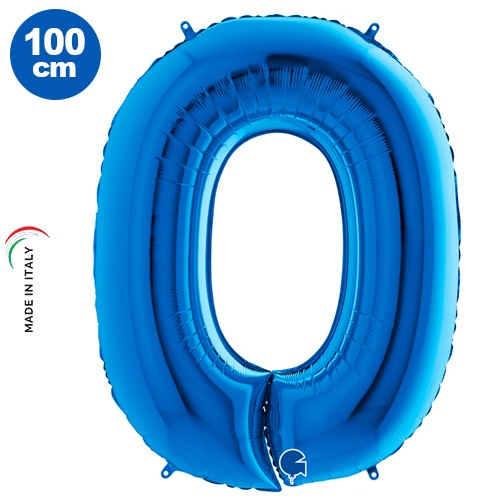 0 Rakam Folyo Balon Mavi (100x70 cm)