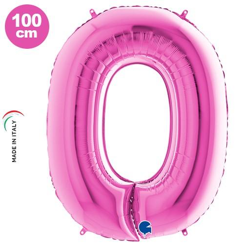 0 Rakam Folyo Balon Pembe (100x70 cm)