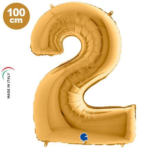 2 Rakam Folyo Balon Gold (100x70 cm)
