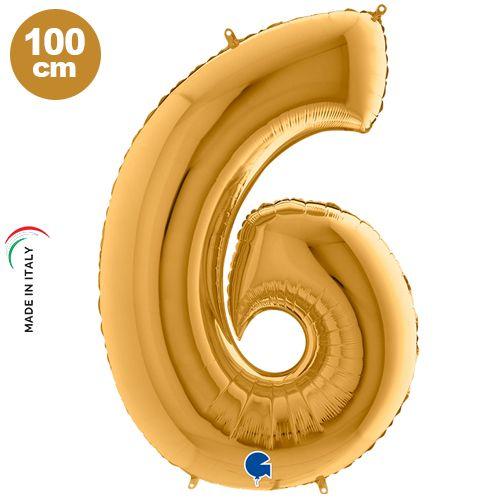 6 Rakam Folyo Balon Gold (100x70 cm)