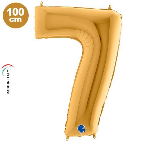 7 Rakam Folyo Balon Gold (100x70 cm)