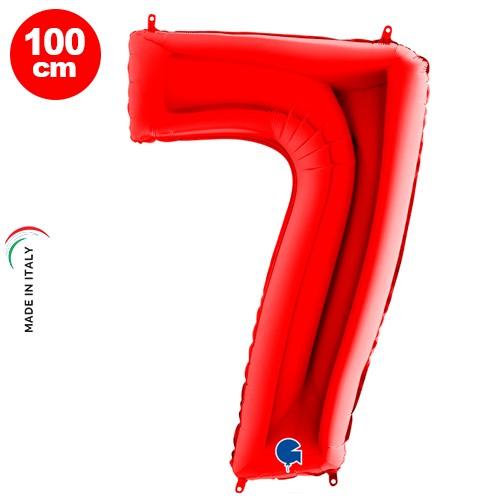 7 Rakam Folyo Balon Kırmızı (100x70 cm)