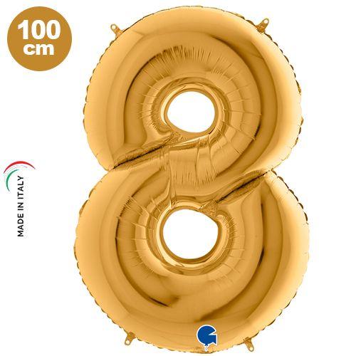 8 Rakam Folyo Balon Gold (100x70 cm)