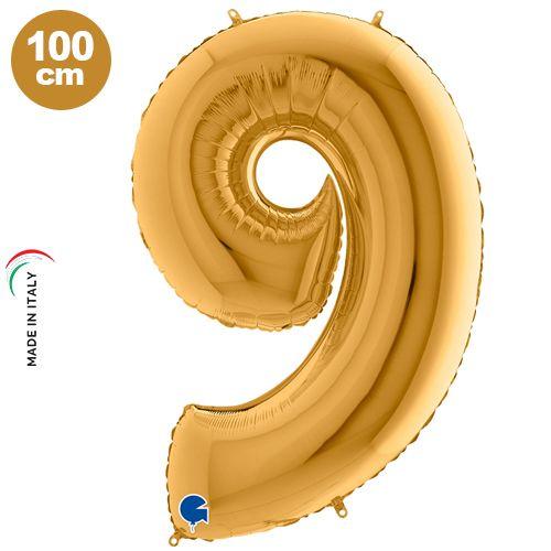9 Rakam Folyo Balon Gold (100x70 cm)