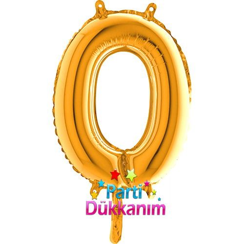 0 Rakam Folyo Balon Gold (35 cm)