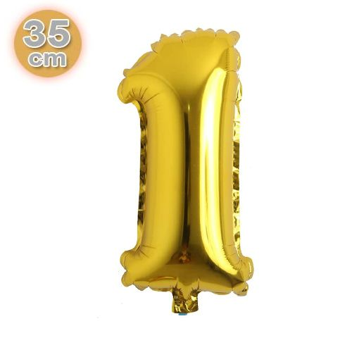 1 Rakam Folyo Balon Gold (35 cm), fiyatı
