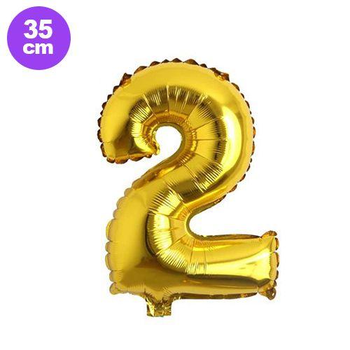 2 Rakam Folyo Balon Gold (35 cm), fiyatı