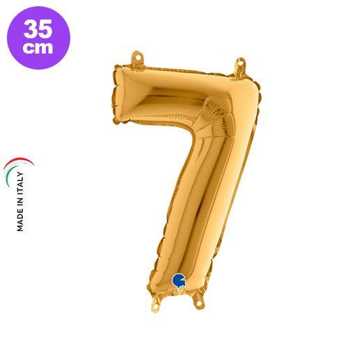 7 Rakam Folyo Balon Gold (35 cm)