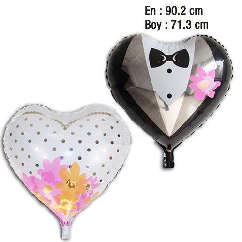 Gelin Damat Kalp Folyo Balon, fiyatı
