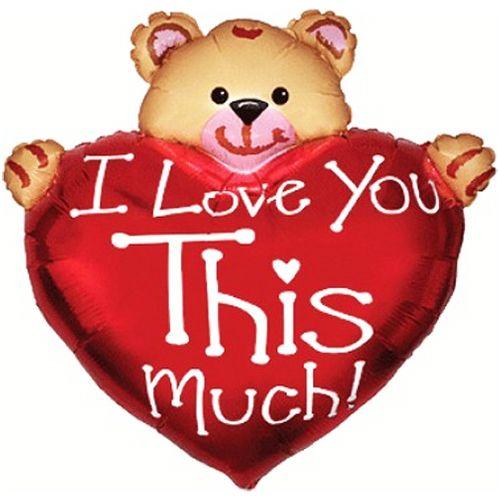 İ Love This Much Kalp Folyo Balon (85x85 cm)