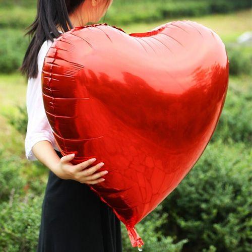 Kalp Balon Kırmızı Büyük (30 inc/75 cm)