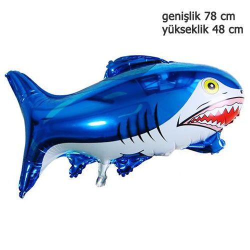 Köpek Balığı Folyo Balon 78 cm, fiyatı