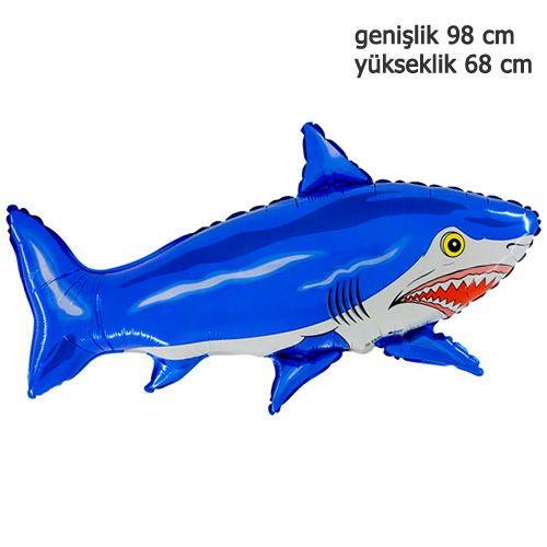 Köpek Balığı Folyo Balon 31\'\'