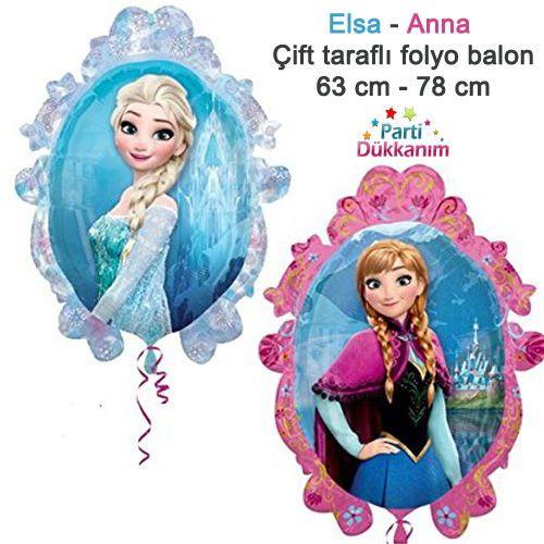 Elsa Anna Çift Taraflı Folyo Balon