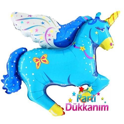 Pony Folyo Balon (Büyük) Mavi