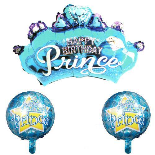 Prens Folyo Balon 3'lü Set, fiyatı