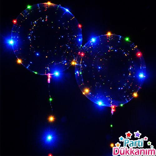 Led Işıklı Şeffaf Balon 45 cm, fiyatı