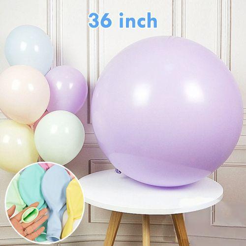 36 İnch Jumbo Makaron Balon Lila