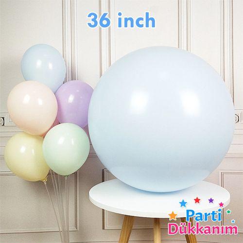 36 İnch Jumbo Makaron Balon Mavi, fiyatı