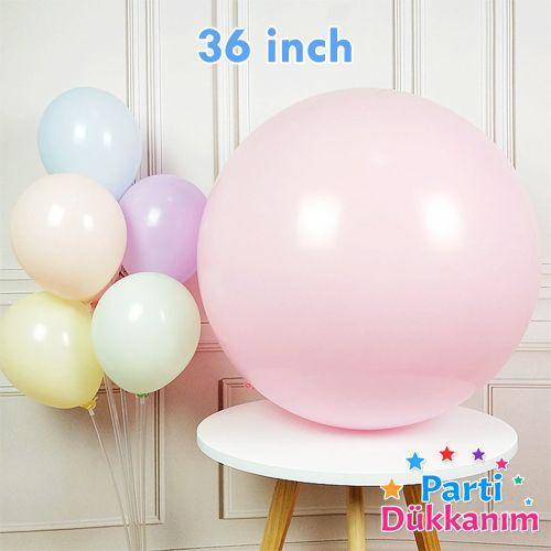 36 İnch Jumbo Makaron Balon Pembe, fiyatı