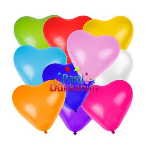 Karışık Kalpli Balon 15 Adet