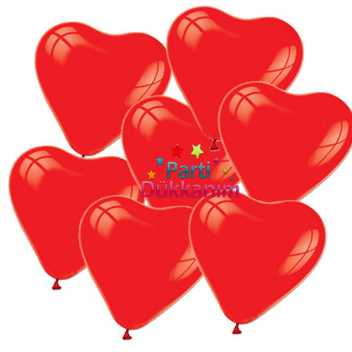 Kalpli Kırmızı Balon (50 adet), fiyatı