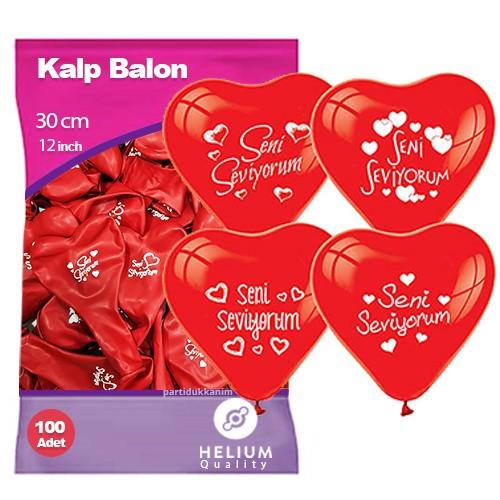 Seni Seviyorum Balonu 100 Adet