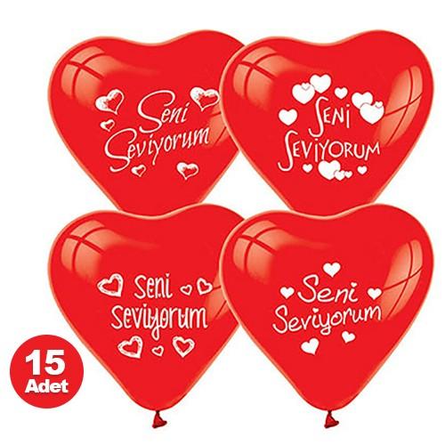 Seni Seviyorum Balonu 15 Adet, fiyatı