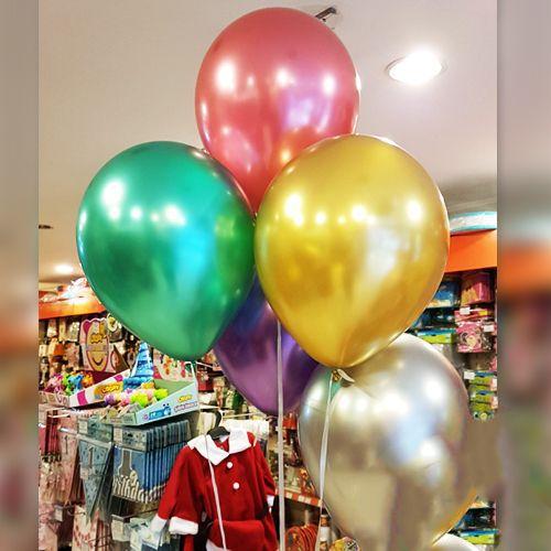 Karışık Renkli Krom Balon 5 Adet, fiyatı