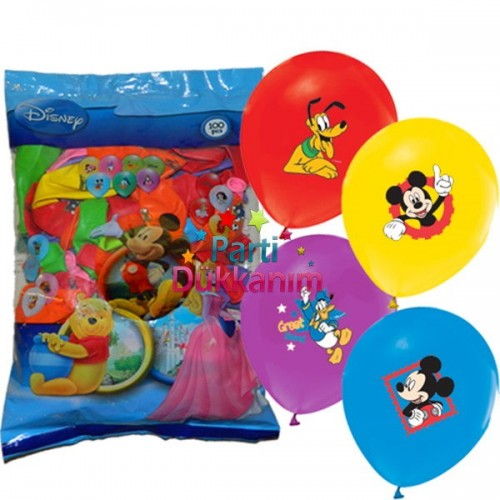 Mickey Mouse Balon Club 100 Adet