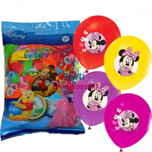 Minnie Mouse Balon (100 Adet)