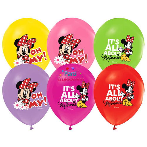Minnie Mouse Balon 20 Adet