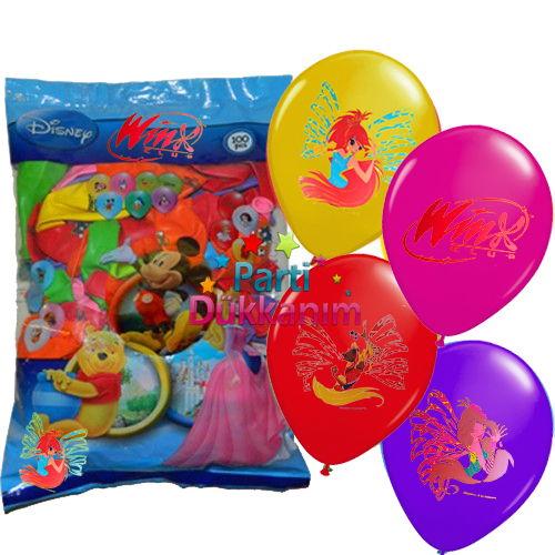 Winx Baskılı Balon (100 adet)