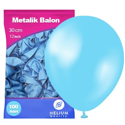 Açık Mavi Balon Sedefli 100 Adet