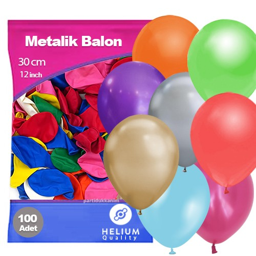 Karışık Balon Sedefli 100 Adet